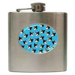 Cat Pattern Hip Flask (6 Oz) by Valentinaart
