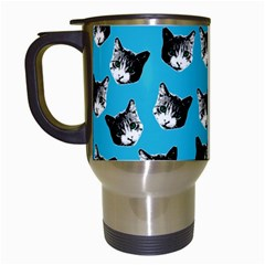 Cat Pattern Travel Mugs (white) by Valentinaart