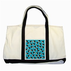 Cat Pattern Two Tone Tote Bag by Valentinaart