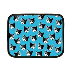 Cat Pattern Netbook Case (small)  by Valentinaart