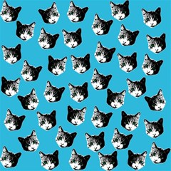 Cat Pattern Magic Photo Cubes by Valentinaart