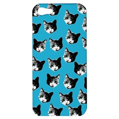 Cat Pattern Apple Iphone 5 Hardshell Case by Valentinaart