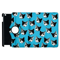 Cat Pattern Apple Ipad 2 Flip 360 Case by Valentinaart