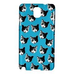 Cat Pattern Samsung Galaxy Note 3 N9005 Hardshell Case by Valentinaart