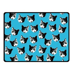 Cat Pattern Double Sided Fleece Blanket (small)  by Valentinaart