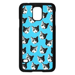 Cat Pattern Samsung Galaxy S5 Case (black) by Valentinaart
