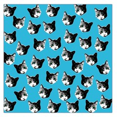 Cat Pattern Large Satin Scarf (square) by Valentinaart