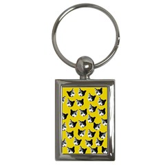 Cat Pattern Key Chains (rectangle)  by Valentinaart