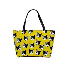 Cat Pattern Shoulder Handbags by Valentinaart