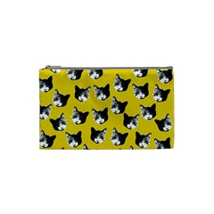 Cat Pattern Cosmetic Bag (small)  by Valentinaart