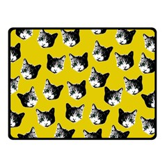 Cat Pattern Fleece Blanket (small) by Valentinaart