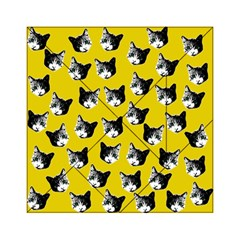 Cat Pattern Acrylic Tangram Puzzle (6  X 6 ) by Valentinaart