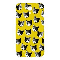 Cat Pattern Samsung Galaxy Mega I9200 Hardshell Back Case by Valentinaart