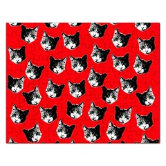 Cat Pattern Rectangular Jigsaw Puzzl by Valentinaart