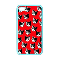 Cat Pattern Apple Iphone 4 Case (color) by Valentinaart