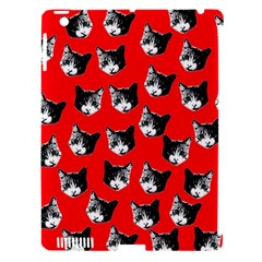 Cat Pattern Apple Ipad 3/4 Hardshell Case (compatible With Smart Cover) by Valentinaart
