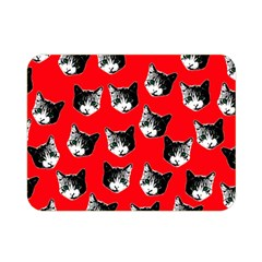 Cat Pattern Double Sided Flano Blanket (mini)  by Valentinaart