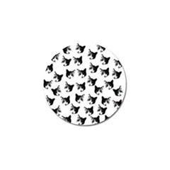 Cat Pattern Golf Ball Marker (10 Pack) by Valentinaart