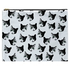 Cat Pattern Cosmetic Bag (xxxl)  by Valentinaart