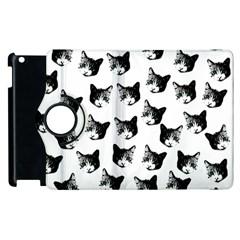 Cat Pattern Apple Ipad 3/4 Flip 360 Case by Valentinaart