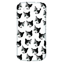Cat Pattern Samsung Galaxy S3 S Iii Classic Hardshell Back Case by Valentinaart