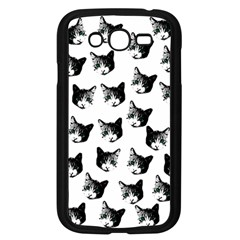 Cat Pattern Samsung Galaxy Grand Duos I9082 Case (black) by Valentinaart