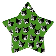 Cat Pattern Star Ornament (two Sides) by Valentinaart