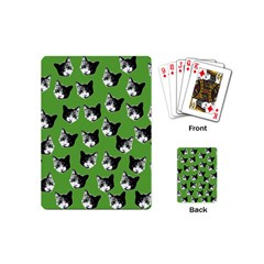 Cat Pattern Playing Cards (mini)  by Valentinaart