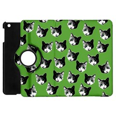 Cat Pattern Apple Ipad Mini Flip 360 Case by Valentinaart