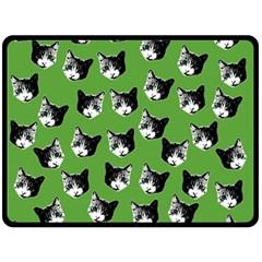 Cat Pattern Double Sided Fleece Blanket (large)  by Valentinaart