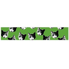 Cat Pattern Flano Scarf (large) by Valentinaart