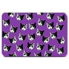 Cat Pattern Large Doormat  by Valentinaart