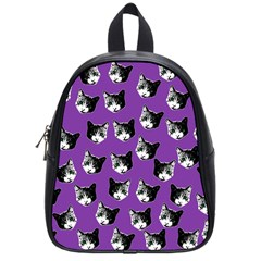 Cat Pattern School Bags (small)  by Valentinaart