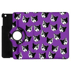 Cat Pattern Apple Ipad Mini Flip 360 Case by Valentinaart