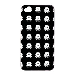Emoji Baby Vampires Pattern Apple Iphone 4/4s Seamless Case (black) by dflcprints