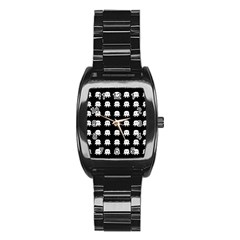 Emoji Baby Vampires Pattern Stainless Steel Barrel Watch by dflcprints
