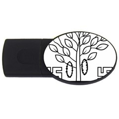 Seal Of Indian State Of Bihar  Usb Flash Drive Oval (2 Gb) by abbeyz71