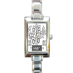 Seal Of Indian State Of Bihar Rectangle Italian Charm Watch by abbeyz71