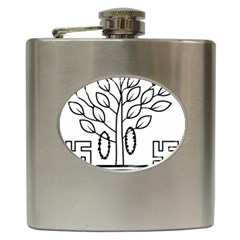 Seal Of Indian State Of Bihar Hip Flask (6 Oz) by abbeyz71
