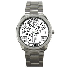 Seal Of Indian State Of Bihar Sport Metal Watch by abbeyz71