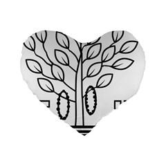 Seal Of Indian State Of Bihar Standard 16  Premium Heart Shape Cushions by abbeyz71