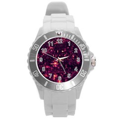 /r/place Round Plastic Sport Watch (l) by rplace