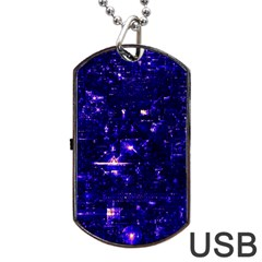 /r/place Indigo Dog Tag Usb Flash (one Side) by rplace