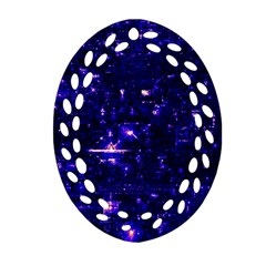 /r/place Indigo Oval Filigree Ornament (two Sides) by rplace
