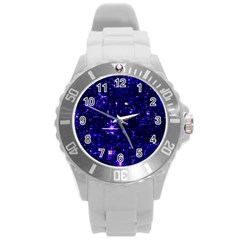 /r/place Indigo Round Plastic Sport Watch (l) by rplace