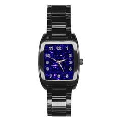 /r/place Indigo Stainless Steel Barrel Watch by rplace