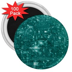 /r/place Emerald 3  Magnets (100 Pack) by rplace