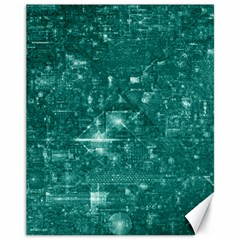 /r/place Emerald Canvas 11  X 14   by rplace