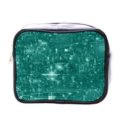 /r/place Emerald Mini Toiletries Bags by rplace