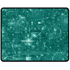 /r/place Emerald Fleece Blanket (medium)  by rplace